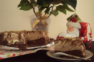 Ciasto świąteczne zebra z serkiem - Monika Struk