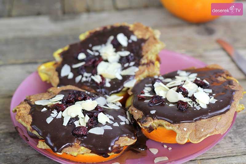 Owsiane Placuszki w czekoladzie z pomarańczą