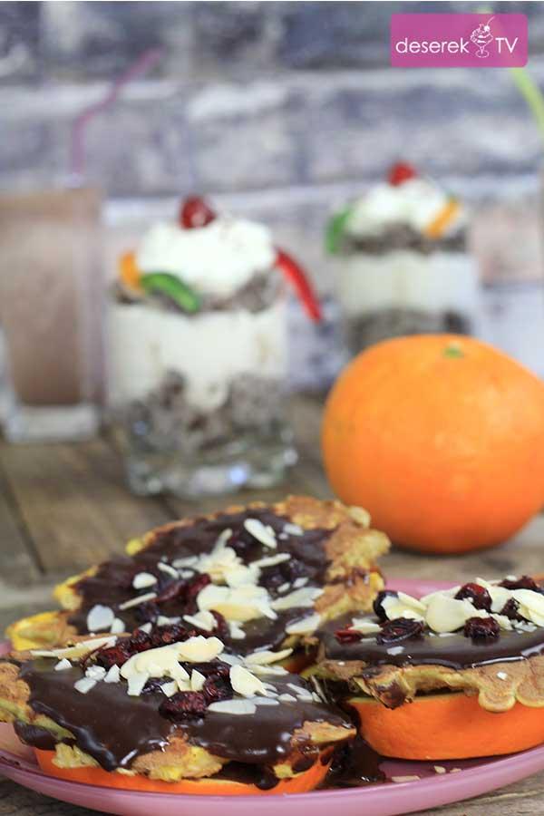 Owsiane Placuszki w czekoladzie z pomarańcząOwsiane Placuszki w czekoladzie z pomarańczą
